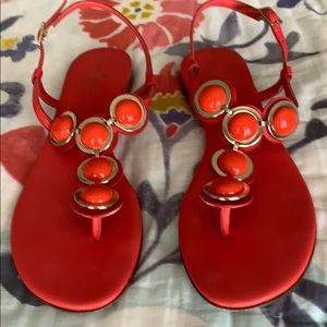 NEW! Kate Spade 'Orange Circle' sandals.